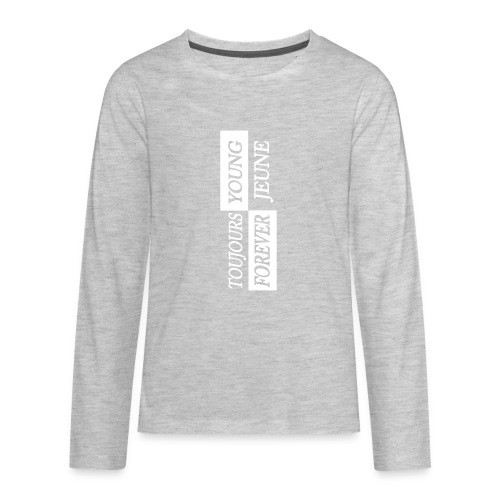 Kids Young Forever - White Logo - Kids' Premium Long Sleeve T-Shirt