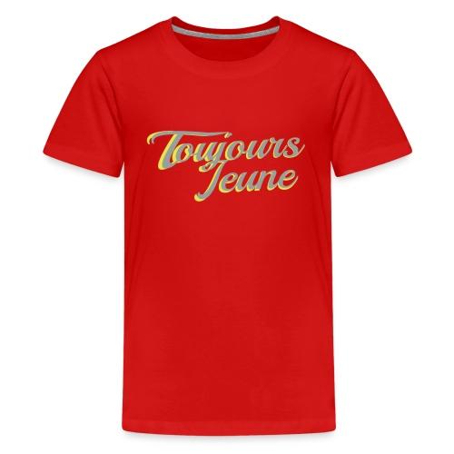 Kids - Grey & Yellow Logo - Kids' Premium T-Shirt