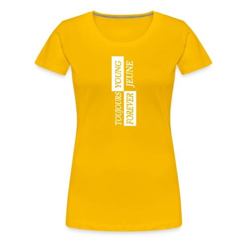 Sunny Side Up - White Logo - Women's Premium T-Shirt