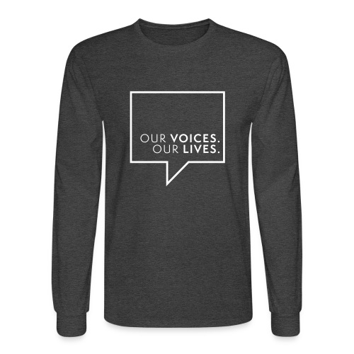 Our Voices. Our Lives. Logo Lines Mens Long Sleeve Tee - Men's Long Sleeve T-Shirt