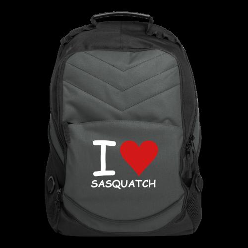 I Love Sasquatch Bigfoot Laptop Backpack - Computer Backpack