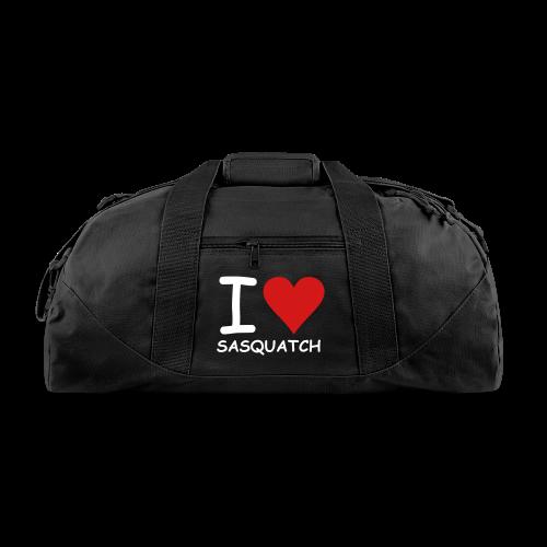 I Love Sasquatch Bigfoot Duffle Bag - Duffel Bag
