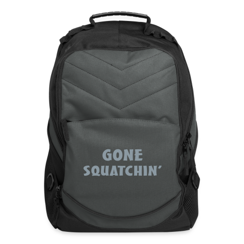 Gone Squatchin' Silver Reflective Bigfoot Sasquatch  Laptop Backpack - Computer Backpack