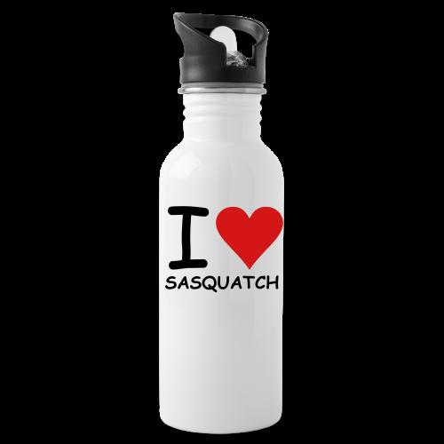 I Love Sasquatch Bigfoot Metal Sport Water Bottle - Water Bottle