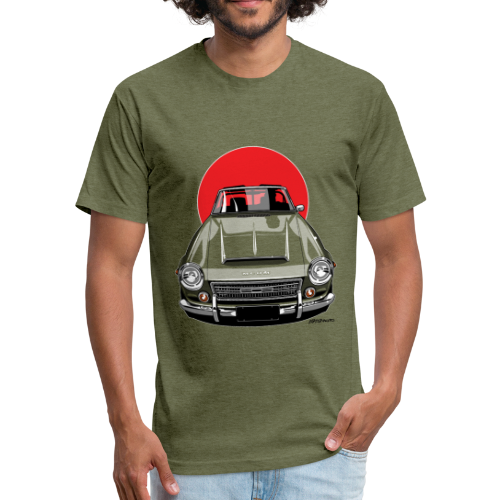 The Sun 2000 Fairlady Roadster - Fitted Cotton/Poly T-Shirt by Next Level