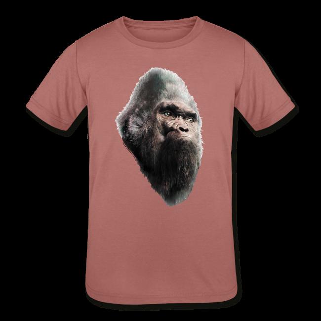 Sasquatch Bigfoot Portrait Vintage Shirt - Kids Tri-Blend Shirt