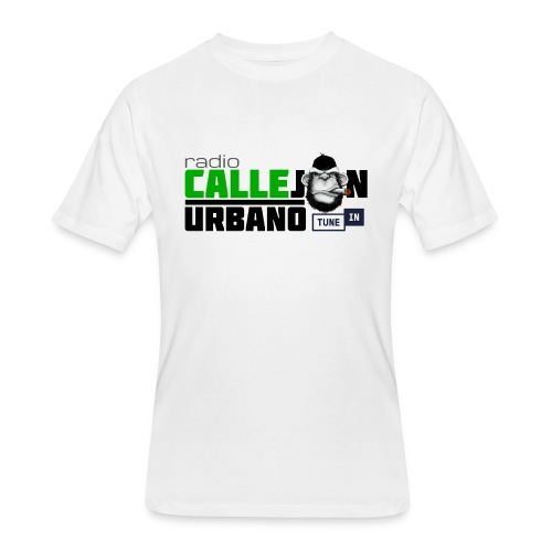 Radio Callejon Urbano Logo White - Men's 50/50 T-Shirt