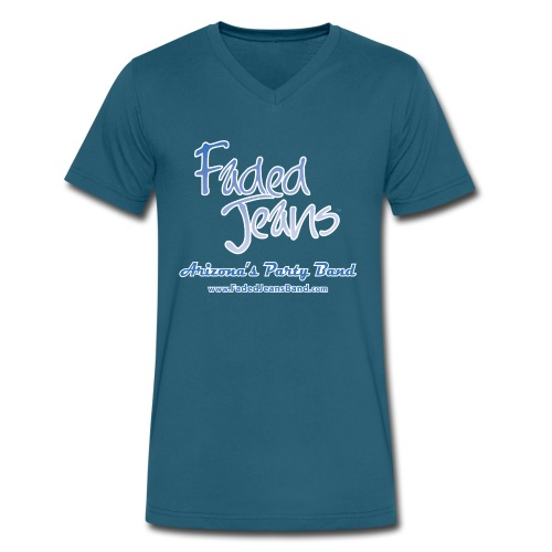 Faded Jeans Men's V-Neck T-Shirt - Men's V-Neck T-Shirt by Canvas