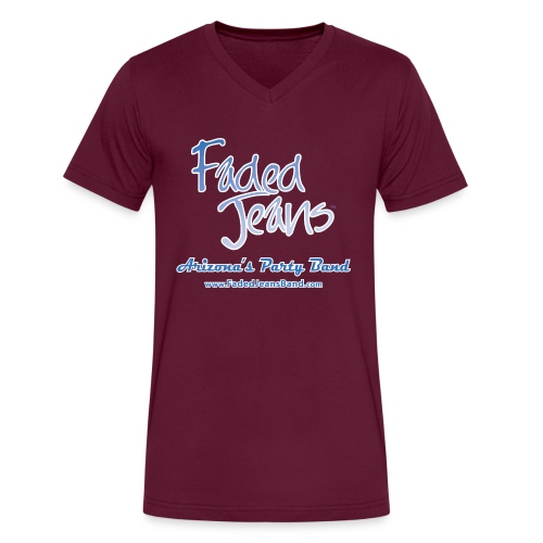 Faded Jeans Men's V-Neck T-Shirt - Men's V-Neck T-Shirt by Canvas