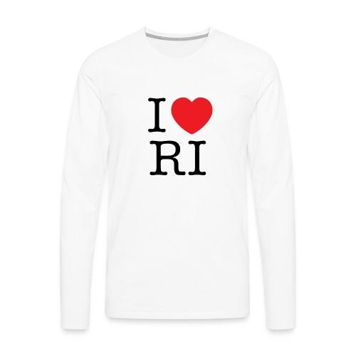 I Heart RI Men's - Men's Premium Long Sleeve T-Shirt