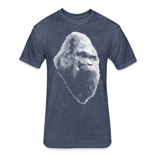 Large Print Vintage Sasquatch Bigfoot Shirt - Heather Colors - Fitted Cotton/Poly T-Shirt by Next Level