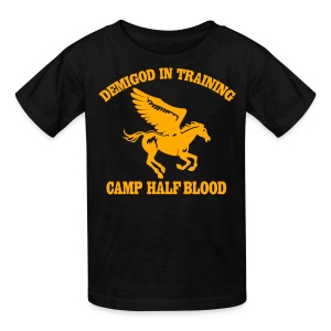 Pegasus Camp Half-Blood Neon Orange Design T-Shirt - Kids' T-Shirt