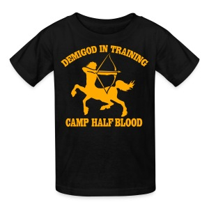 Centaur Camp Half-Blood Neon Orange Design T-Shirt - Kids' T-Shirt