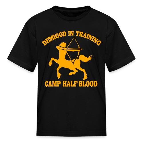 Centaur Camp Half-Blood Neon Orange Design T-Shirt - Kids' T-Shirt