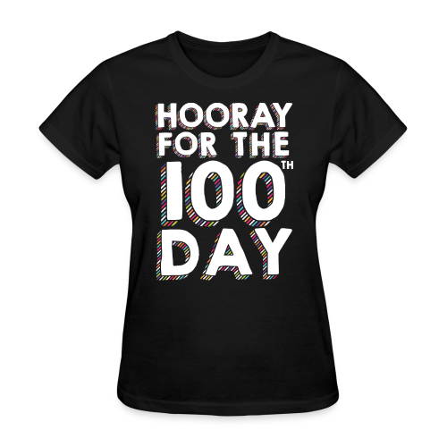 Hooray for the 100th Day | Colorful Sprinkles - Women's T-Shirt