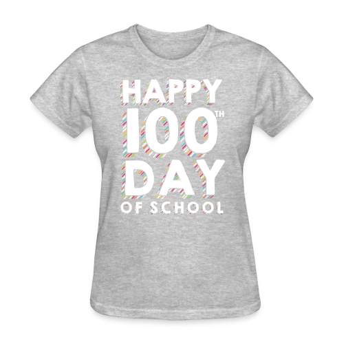 Happy 100th Day of School | Colorful Sprinkles - Women's T-Shirt