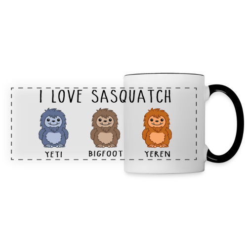 I Love Sasquatch Yeti Bigfoot Yeren Panoramic Mug - Panoramic Mug