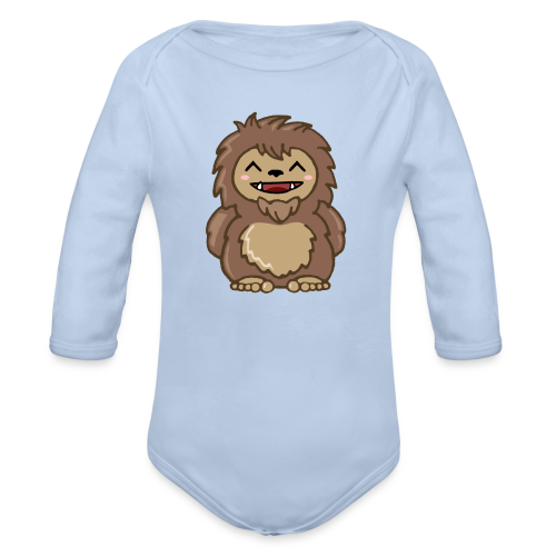 Baby Sasquatch Bigfoot One Piece - Navy, Pink, Red, Blue, White or Black - Organic Long Sleeve Baby Bodysuit