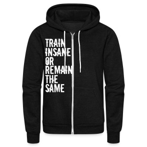 Unisex Fleece Zip Hoodie by American Apparel - Motivational Apparel | XFit Motivation | Awesome Gear For Fitness Addicts --- T-Shirts, Long Sleeves, Sweatshirts, Tank Tops, and more! Male and Female Clothing Available + Accesories such as iPhone Cases
