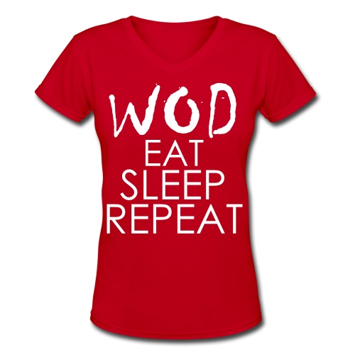 Women's V-Neck T-Shirt - Motivational Apparel   XFit Motivation   Fitness Motivation   Awesome Gear For Fitness Addicts --- T-Shirts, Long Sleeves, Sweatshirts, Tank Tops, and more! Male and Female Clothing Available + Accesories such as iPhone Cases