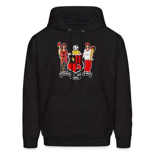 Forza Metro/NJ Flag - Black Men's Hoodie - Men's Hoodie