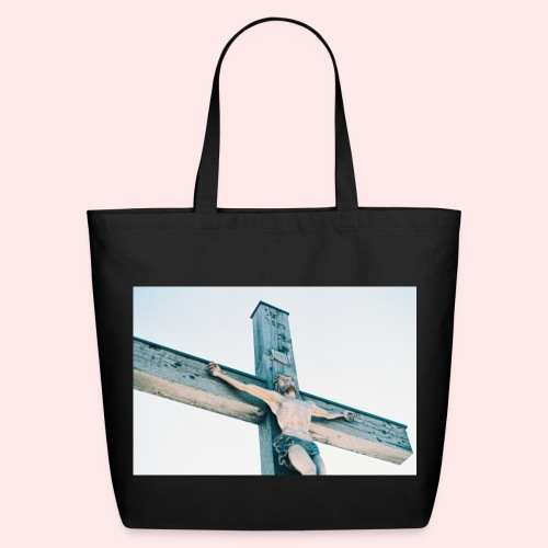 Christ on the Cross Tote bag (eco-friendly) - Eco-Friendly Cotton Tote