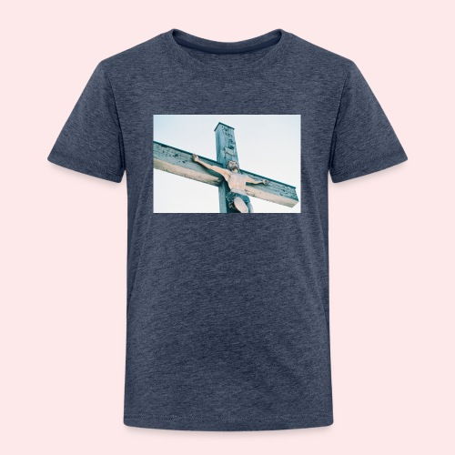 Christ on the Cross Toddler T-shirt - Toddler Premium T-Shirt