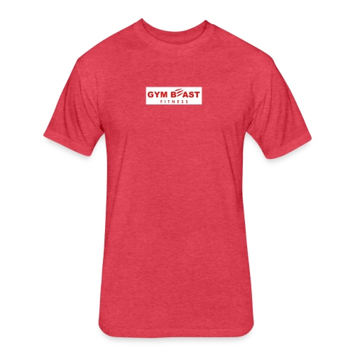 GB-Full Red Block Red - Fitted Cotton/Poly T-Shirt by Next Level