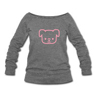 Long Sleeve Shirts ~ Women's Wideneck Sweatshirt ~ Pugs