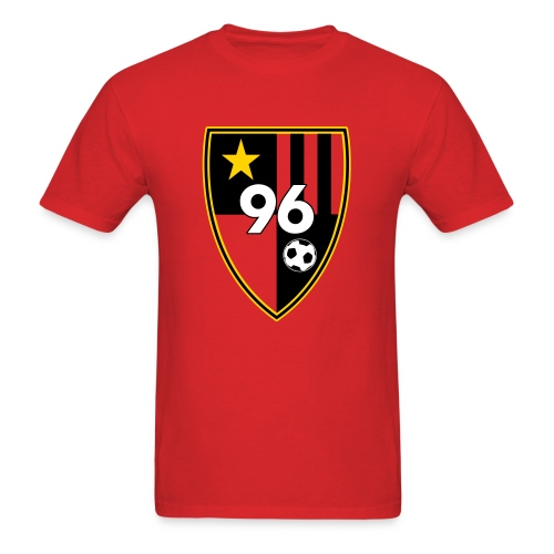 96 - Men's Red T-Shirt - Men's T-Shirt