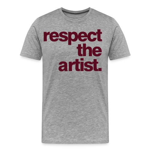 RESPECT THE ARTIST BY AM - Men's Premium T-Shirt