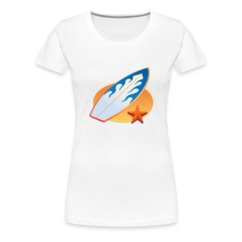Surfboard. Starfish. - Women's Premium T-Shirt