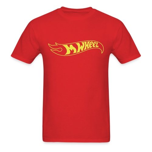 M-Wheel - Red Men's T-Shirt - Men's T-Shirt