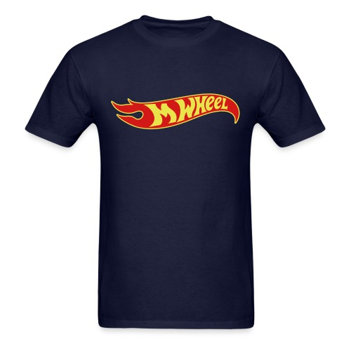 M-Wheel - Navy Men's T-Shirt - Men's T-Shirt