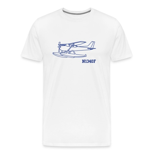 c172 Floats Custom N-number - Men's Premium T-Shirt