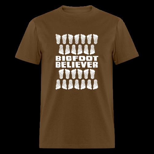Bigfoot Believer Distressed Vintage Foot Pattern Sasquatch Shirt - Adult - Men's T-Shirt