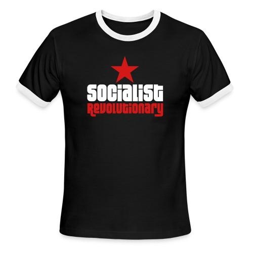 Socialist Revolutionary Ringer Tee - Men's Ringer T-Shirt