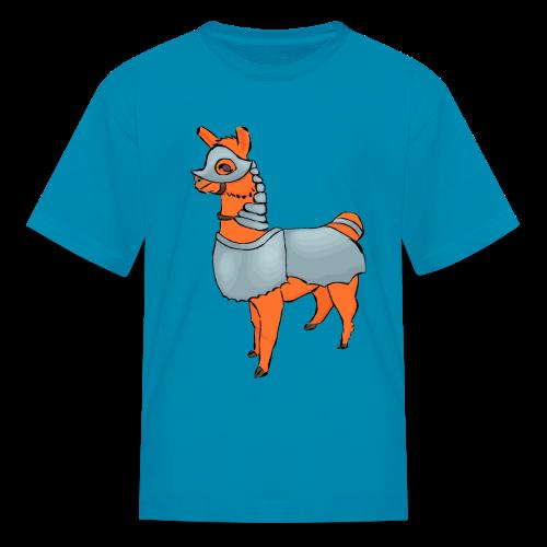 Llama, Larmour, Armor, Armour, Alpacca, Cute, Farm, Axel The Mighty, Axel Delecroix - Kids' T-Shirt