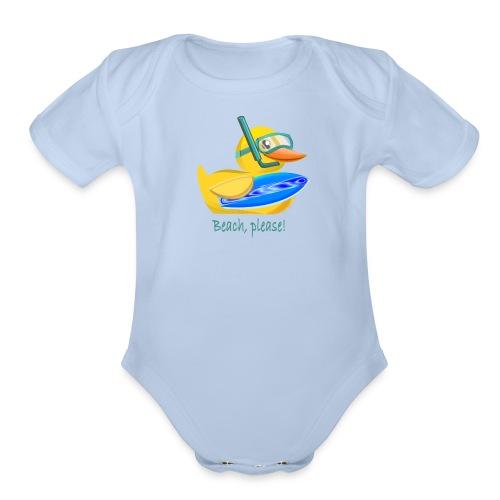Rubber duck 1 - Organic Short Sleeve Baby Bodysuit