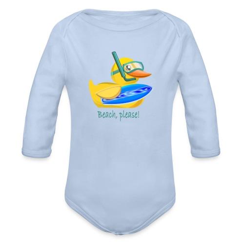 Rubber duck 2 - Organic Long Sleeve Baby Bodysuit
