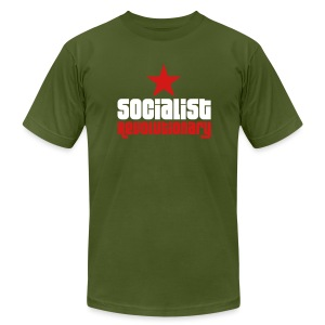 Socialist Revolutionary Jersey Tee (click for more colors) - Men's T-Shirt by American Apparel