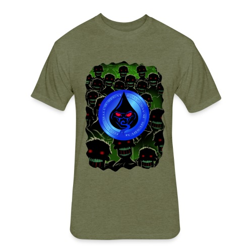 Bad Oil Zombies Lurking - Fitted Cotton/Poly T-Shirt by Next Level