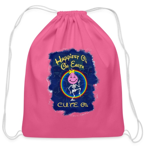 Happiest Oily Girl - Cotton Drawstring Bag