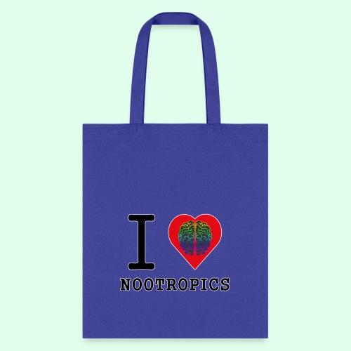 I HEART BRAIN NOOTROPICS - Tote Bag