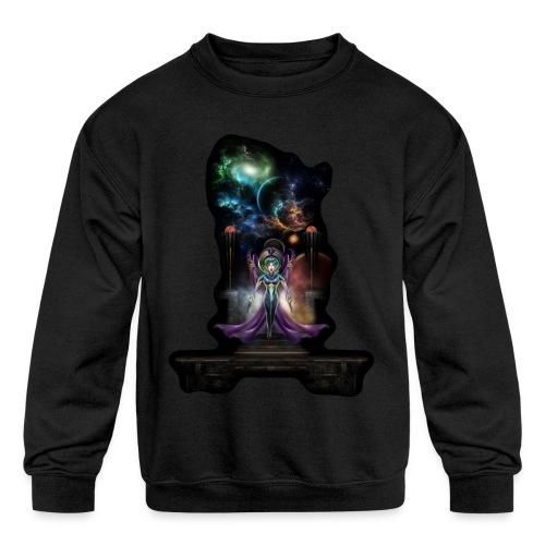 The Elegance Of Trilia Fractal Portrait NSE - Kids' Crewneck Sweatshirt
