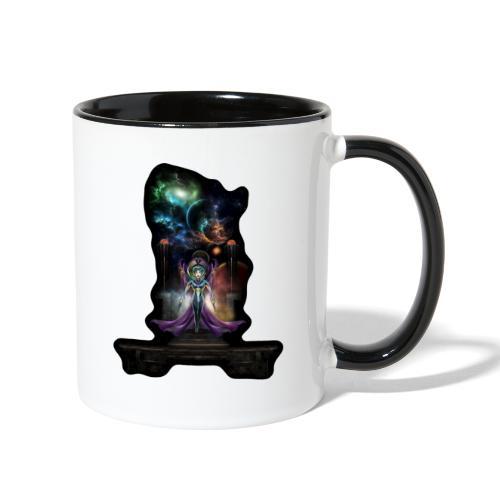 The Elegance Of Trilia Fractal Portrait NSE - Contrast Coffee Mug