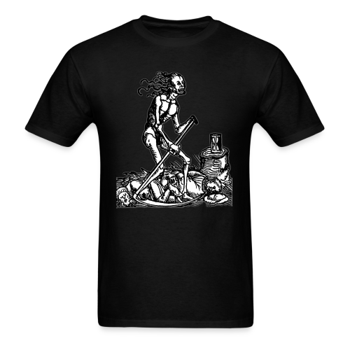 DEATH REAPER & HOURGLASS - OCCULT STYLE - Men's T-Shirt
