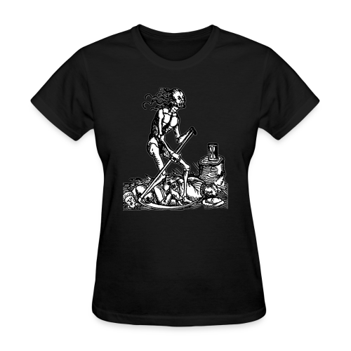 DEATH REAPER & HOURGLASS - OCCULT STYLE - Women's T-Shirt
