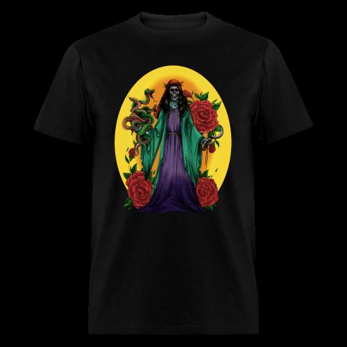 SANTA MUERTE 3 - OCCULT, DEATH REAPER STYLE - Men's T-Shirt
