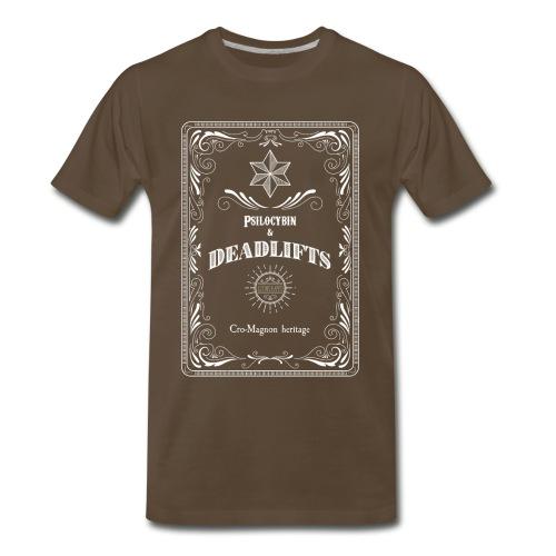Psilocybin & Deadlifts - luomuhappo - Men's Premium T-Shirt